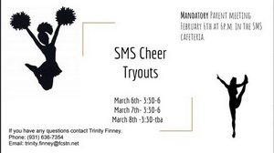 SMS Cheer Tryouts Flyer
