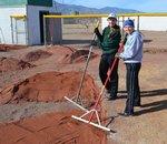 View THS Softball Field Red Dirt Installation
