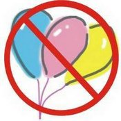 No latex balloons