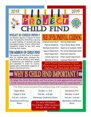 Project  Child Find 2018-2019