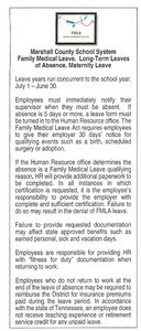 FMLA Administrative Procedure