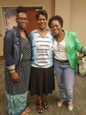 Tamara Oliver-Jackson, Barbara McCoy and Valerie Love-Simmons attending the 2nd Annual Critical Issues for Alabama School Counselors Conference at Birmingham Southern College (September 23, 2016)