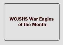 WCJSHS War Eagles of the Month