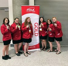 West Carroll High FCCLA Members Bring Home the Gold!