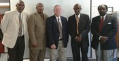 Quitman County Board of Education Board Members (left to right; Mr. Larry Wilborn, Mr. Jimmy Eleby, Mr. Billy Shirah Sr., Mr. Willie Anderson (Chairman), & Mr. Bobby Willis (V. Chairman)