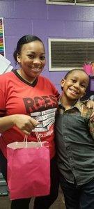 Ms. Brittney Mitchner with Ahmarion Reynolds