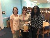 Left to Right: Mrs. Robbin Temples (Principal), Mrs. Karen Ragan (TOTY), Dr. Tangela Madge (Interim Superintendent)