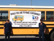 Photo of Bus Driver and Bus Aide Recruitment Banner