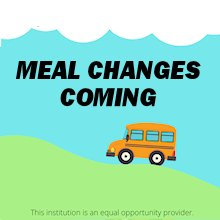 Meal Changes Monday 3/29