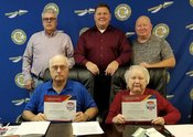 The Southern Local Board of Education met to organize on Jan. 9, respectively naming Jay Cole and Linda Morris as president and vice president. Officials also observed School Board Recognition Month for January and received certificates of appreciation during the session. Pictured are, front from left, John Sawyer and Morris. Back: Cole, Kip Dowling and Mike Abraham.