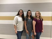 Pictured from left to right are Sara Sosebee, Chloe Cook, and Gillian Little.