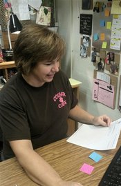 Hard at Work!  CSES Manager Mary Ann Thompson