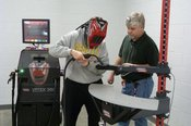 CTCW  Student Olivia Nault receives a welding lesson from instructor Ricky Smith