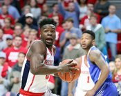 Sophomore Terence Davis, a former Southaven High School star, is shown in action during a game with the Ole Miss Rebels. The Rebel senior has announced his intention to remove himself from NBA Draft consideration and return to Oxford for his senior season.  Joshua McCoy|Ole Miss Athletics (file photo)