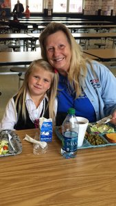 Darcy Lang and her grandmother enjoy their special lunch together