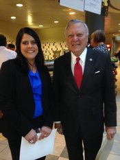 Tris Gilland, Legislative co-chair and Governor Deal
