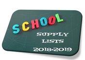 18-19 School Supply List